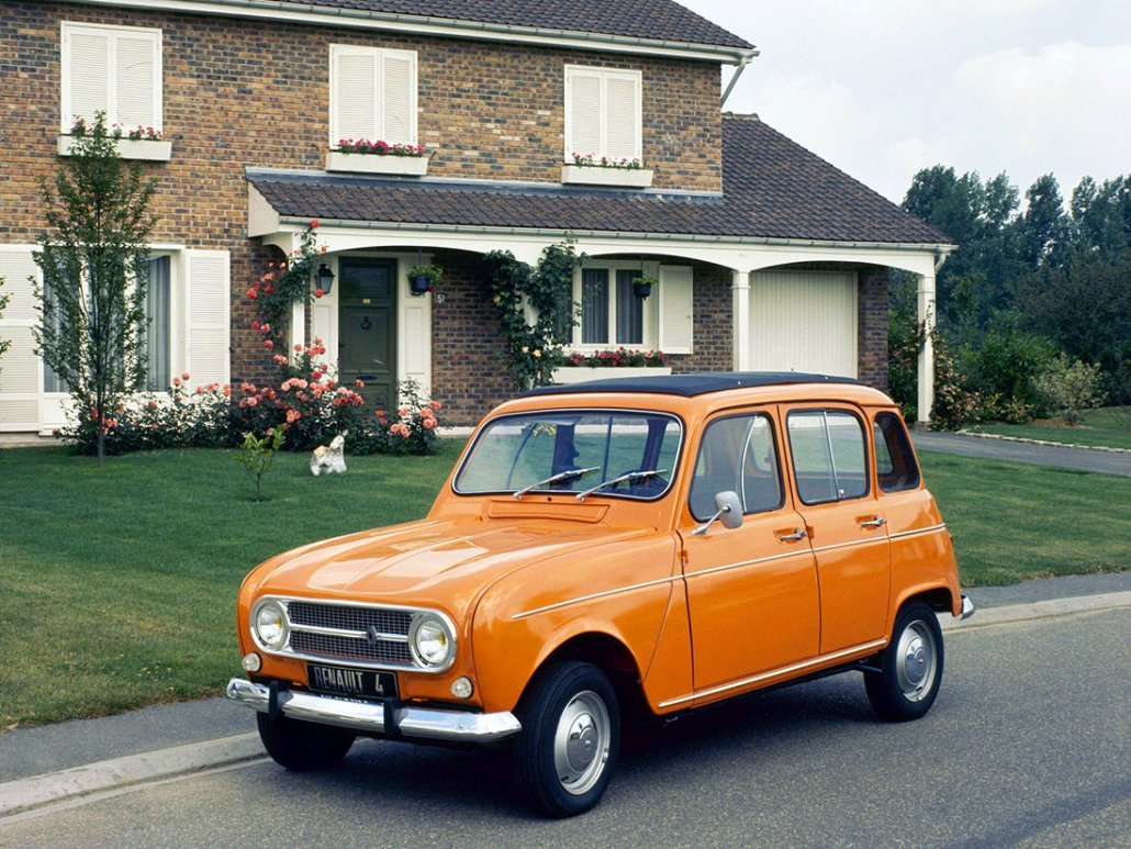 Renault 4 Export avec toit ouvrant en toile vue AV 1967-1972 photo Renault