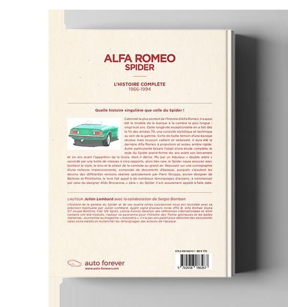 Histoire complète Spider Alfa 105/115 avec prototypes, chronologie évolutions, fiche technique, toutes les versions, chiffres de production
