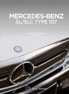 Guide détaillé Mercedes 107 avec chronologie évolutions, fiche technique, toutes les versions, chiffres de production, équipements et options