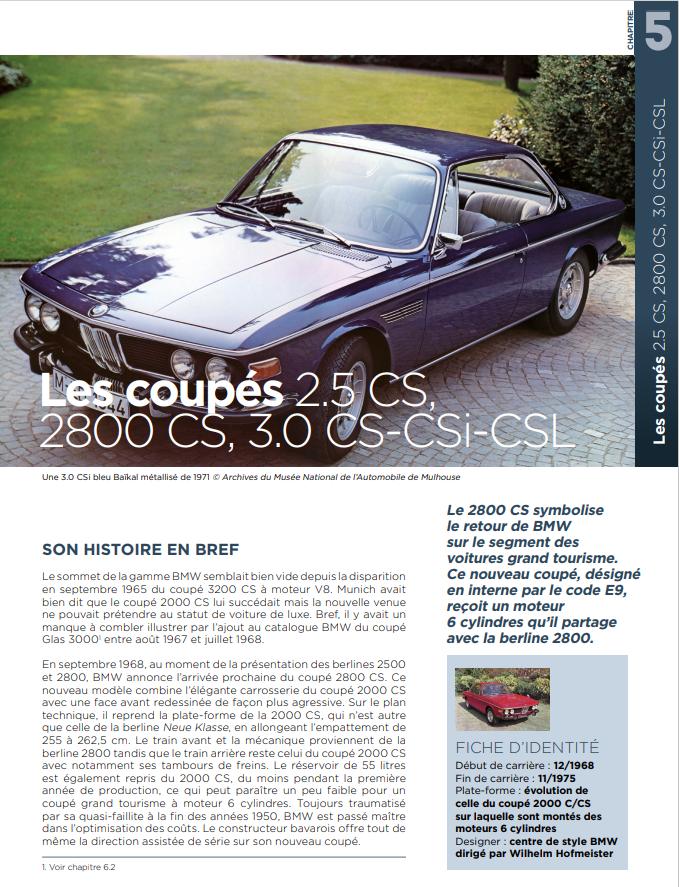 Le Guide de toutes les BMW volume 3 : 1500-2002, 2500-2800-3.0S, 3.0 CS